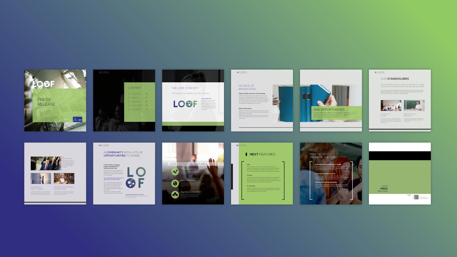 Brochura LOOF, branding