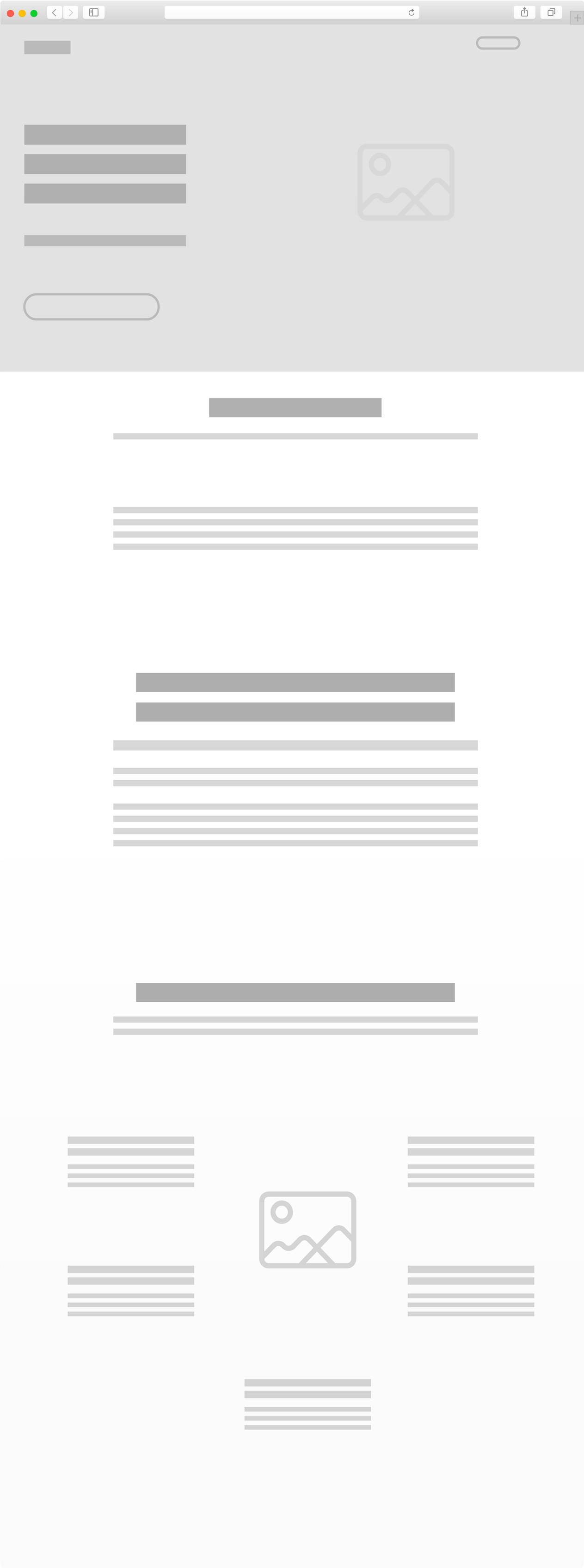Loof desenvolvimento do mockup, Web design