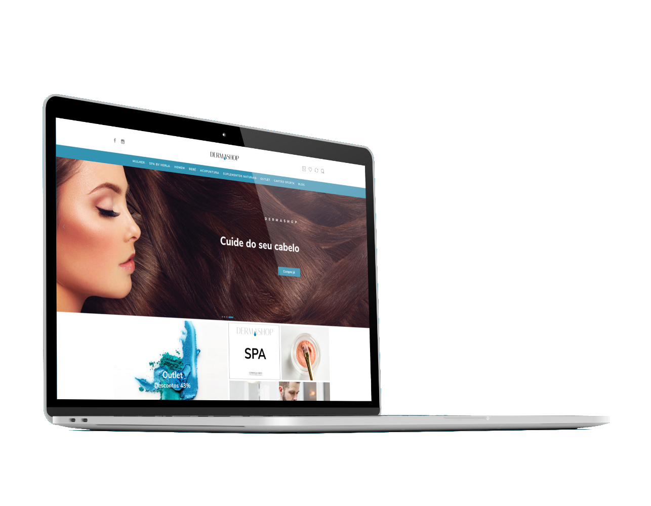 web design do e-commerce dermashop