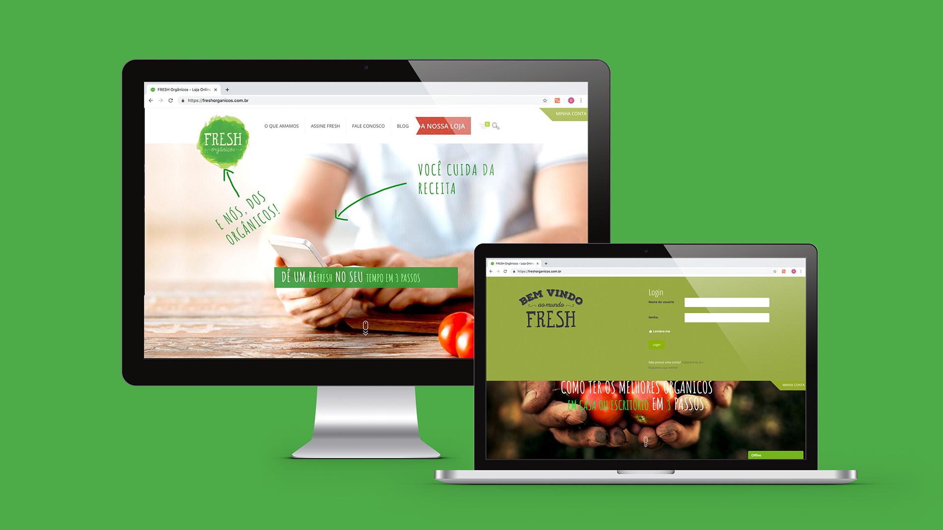 Freshorganicos mockup web Design