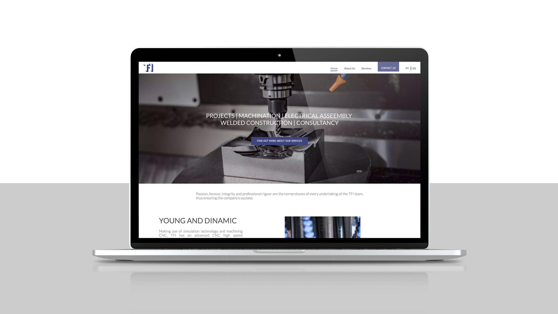 TFI desenvolvimento do mockup web design