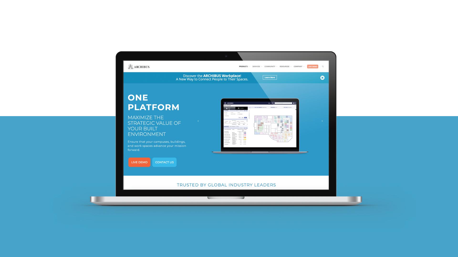 Archibus Mockup Web design